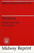 Persona; social role and personality