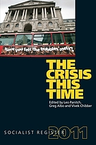 Socialist register 2011 : the crisis this time