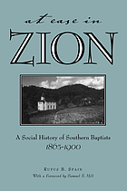 At ease in Zion : social history of Southern Baptists, 1865-1900