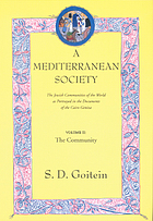 A Mediterranean society : the Jewish communities of the Arab world as portrayed in the documents of the Cairo Geniza. Vol. 2, the community