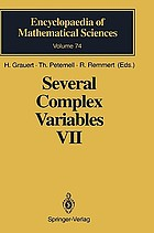 Several complex variablesSeveral complex variables VII : sheaf-theoretical methods in complex analysisSeveral complex variables
