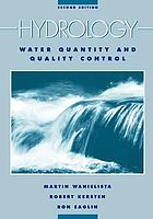 Hydrology : water quantity and quality control Hydrology : water quality and quality control Hydrology : water quantity and quality control Hydrology : water quality control