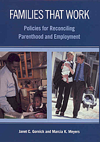Families that work : policies for reconciling parenthood and employment