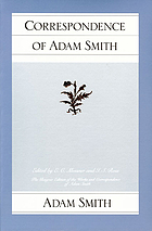 The correspondence of Adam Smith