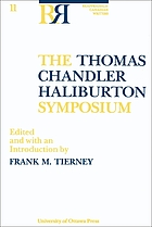 The Thomas Chandler Haliburton Symposium