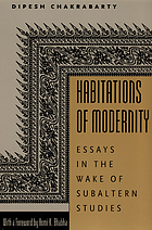 Habitations of modernity : essays in the wake of subaltern studies