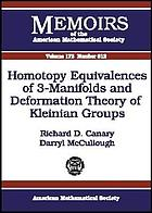 Homotopy equivalences of 3-manifolds and deformation theory of Kleinian groups