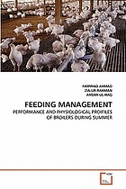 FEEDING MANAGEMENT PERFORMANCE AND PHYSIOLOGICAL PROIFILES OF BROILERS DURING SUMMER