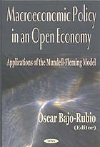 Macroeconomic policy in an open economy : applications of the Mundell-Fleming model