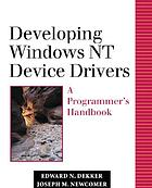 Developing Windows NT device drivers : a programmer's handbook