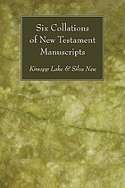 Six collations of New Testament manuscripts