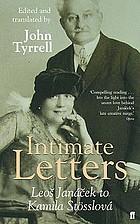 Intimate letters, Leoš Janáček to Kamila Stösslová