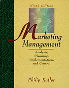 Marketing management : analysis, planning, implementation, and control
