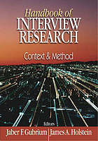Handbook of interview research : context & method