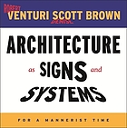 Architecture as signs and systems : for a mannerist time