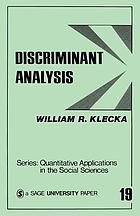 Discriminant analysisDiscriminant analysis