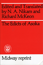The Edicts of AsokaThe edicts of Asoka