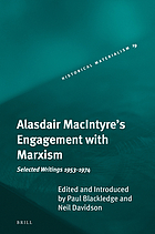 Alasdair MacIntyre's engagement with Marxism selected writings 1953-1974