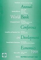 Annual World Bank Conference on Development Economics, 1998