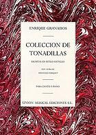 Colección de tonadillas : escritas en estilo antiguo
