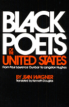 Black poets of the United States; from Paul Laurence Dunbar to Langston Hughes