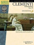 Six sonatinas for the piano, op. 36