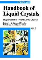 Handbook of liquid crystals