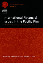 International financial issues in the Pacific Rim global imbalances, financial liberalization, and exchange rate policy