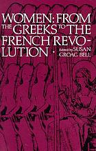 Women from the Greeks to the French revolution