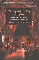 Worship and theology in England