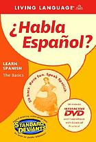 Habla español? learning Spanish, the basics