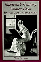 Eighteenth-century women poets : nation, class, and gender
