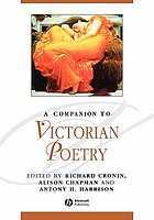 A companion to Victorian poetry