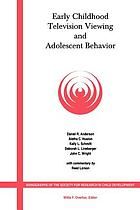 Early childhood television viewing and adolescent behavior : the recontact study