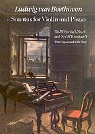 Sonatas for violin and piano : with separate violin part