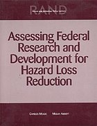 Assessing federal research and development for hazard loss reduction