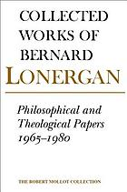 Collected works of Bernard Lonergan