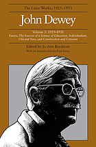 John Dewey : the later works, 1925-1953