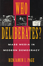 Who deliberates? : mass media in modern democracy