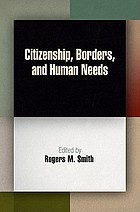 Citizenship, borders, and human needs