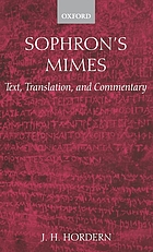 Sophron's mimes : text, translation, and commentary