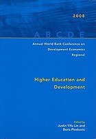 Annual World Bank Conference on Development Economics 2008, Regional Higher education and development