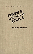 Coups & army rule in Africa : motivations & constraints