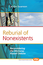 Reburial of nonexistents : reconsidering the Meinong-Russell debate