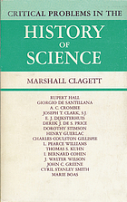 Critical problems in the history of science; proceedings