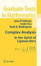 Complex analysis : in the spirit of Lipman Bers