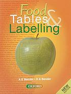 Food tables & labelling