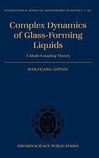 Complex dynamics of glass-forming liquids a mode-coupling theory