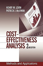 Cost-effectiveness analysis : methods and applications