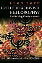 Is there a Jewish philosophy? : rethinking fundamentals